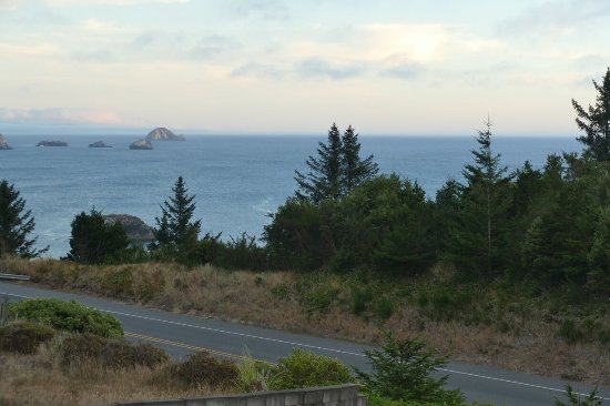 Port Orford, OR: View from motel room dusk