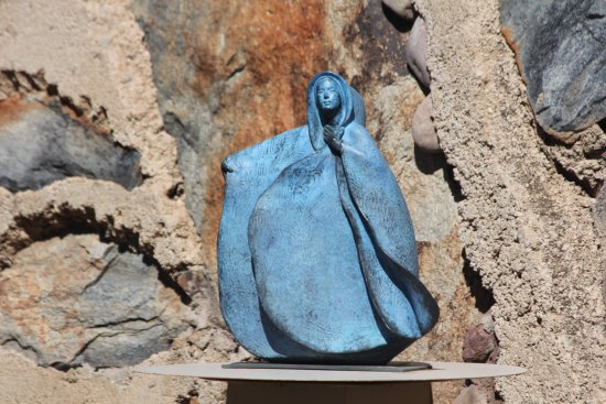 Taliesin West: One of many miniature sculptures in his private garden that grace Tallesin West