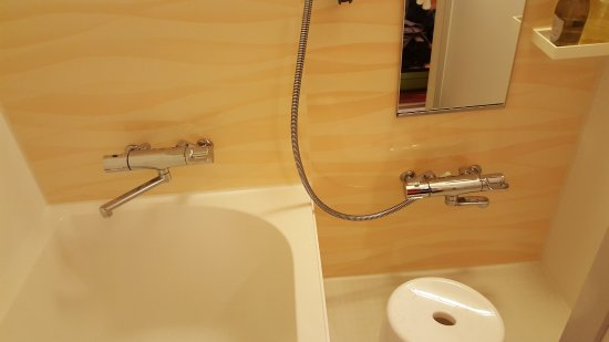 Bathtub with sit down shower on the side - Picture of Hotel Wing ...