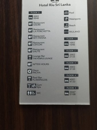 Lay Out Sign Board In The Lift Elevator Picture Of