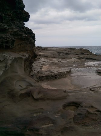 Cams Wharf, Australia: Weathered rock