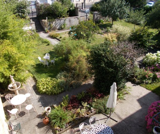 Garden of Le Val du Roy - view from our window