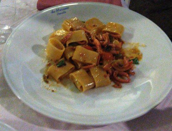 Da Mariano : Paccheri con gamberetti e calamaretti