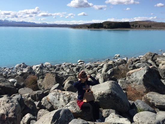 Canterbury, Nya Zeeland: Beautiful crystal clear of lake pukaki..