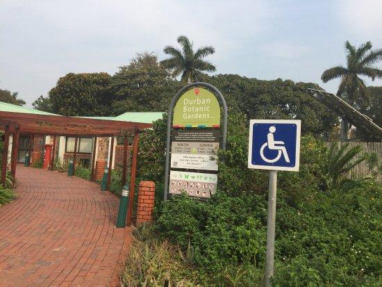 Durban Botanical Gardens: signage outside conference centre