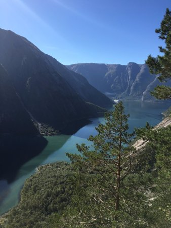 Eidfjord Municipality, Noruega: View from about 2/3 of the way up the trail.