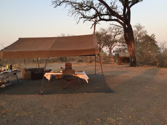 Saile Tented Camp: Central area with our tent behind