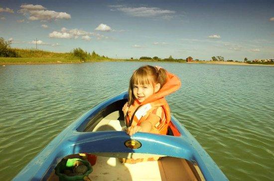 Mazovia Province, Pologne : Na kajaku z dzieciakami