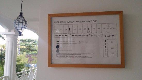 Padangbai, Indonesia: 2층 긴급시 대피로