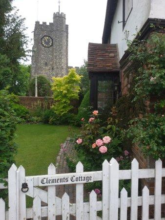 Chilham, UK : cottage e torre