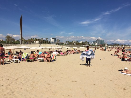 Beautiful Bogatel Beach - Barcelona, Spain - Picture of Bogatell Beach, Barce...