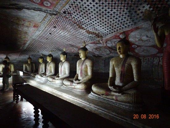 Dambulla, Sri Lanka: Inside Cave 2, the largest of the 5 caves