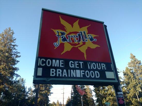 Parrilla Grill: Roadside Sign