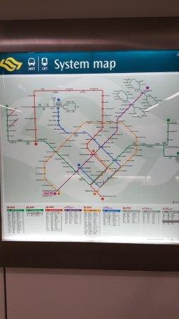 MRT map Picture of Singapore Mass Rapid Transit SMRT Singapore