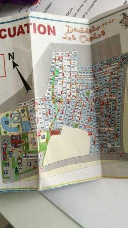 Medis, France : Plan du camping, essentiel car on ne l'a que lorsqu'on arrive !!