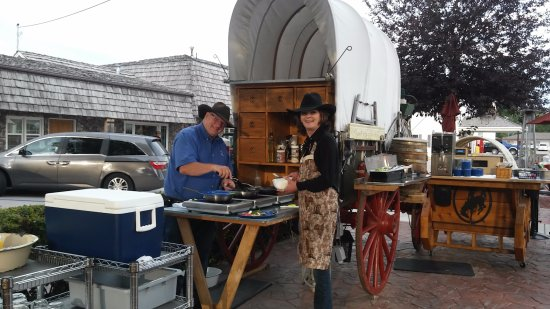 Lusk, WY: Chuckwagon Breakfast is a highlight