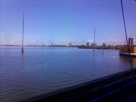 Looking at the Island from Pier 19...beautiful view of the Laguna Madre Bay.