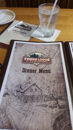 Owatonna, MN: Timber Lodge Menu