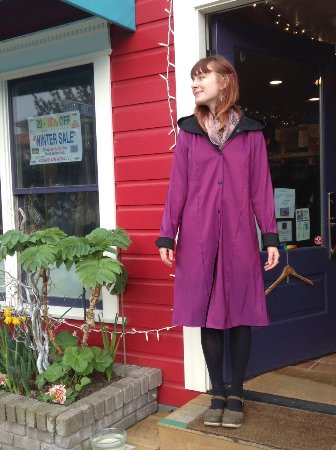 Langley, WA: Made in the USA raincoats from Janska...