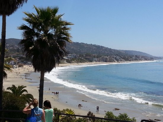 Laguna Beach: This picture is right outside the Las Brisas restaurant.