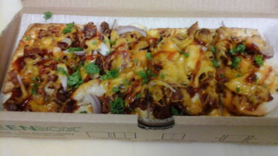 North East, Pensilvania: BBQ Chicken Flatbread