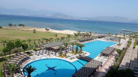 Venosa Beach Resort & Spa: Красивый вид из окна. На море и бассейн