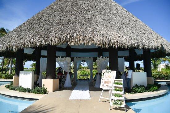 Hard Rock Hotel Punta Cana Gazebo Trumpet Wedding Set Up