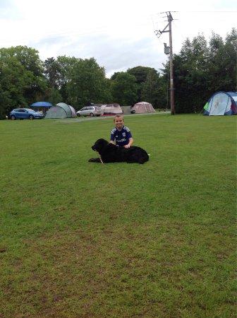 Holmrook, UK: Camp site shenanigans
