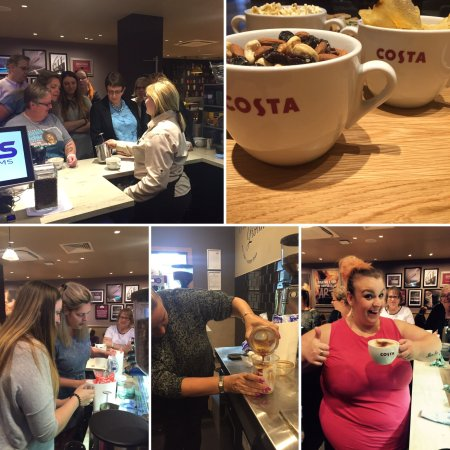 Wallsend, UK: Babyccinos chocolate coffee beans and charity Costa night