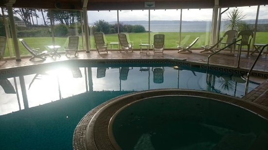 Golf View Hotel & Spa: View across the Moray Firth from the pool...