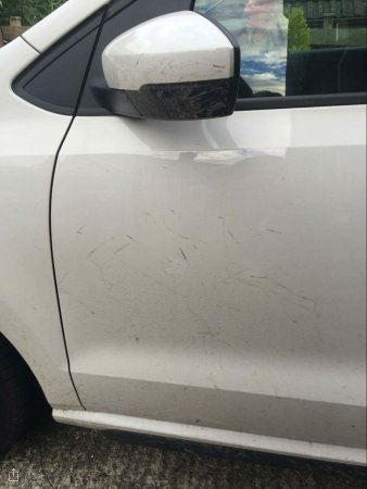 Crowne Plaza Manchester Airport: Car returned from valet parking like this