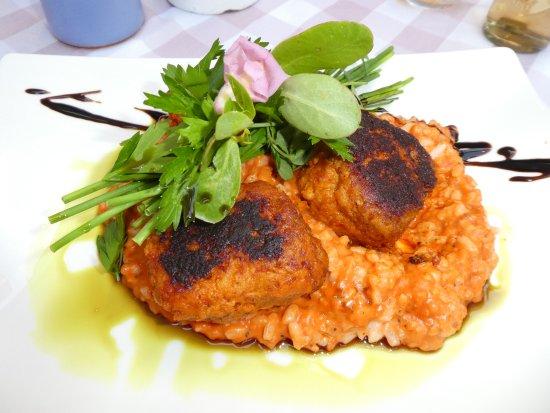 Zwickl - Gastlichkeit am Viktualienmarkt: Risotto og kjøtkaker av peperoni