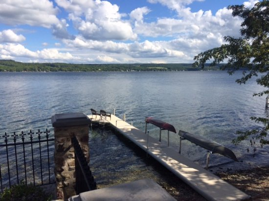 Penn Yan, NY: Dock with kayaks