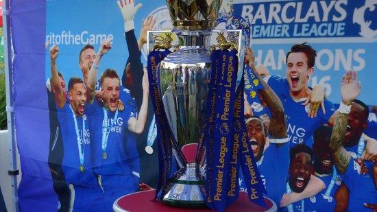 Carson, Californie : Premier League Trophy Display (Pre Match)