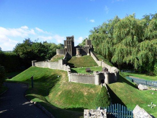Corfe Castle, UK: The model castle.