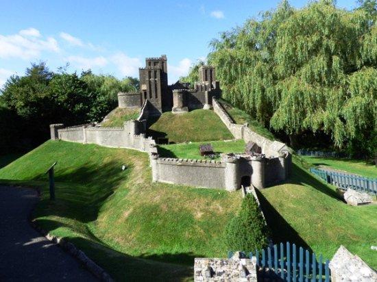 Corfe Castle, UK: The model castle in all it's glory.