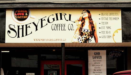 Sheyegirl Coffee Co.: Our store front sign!