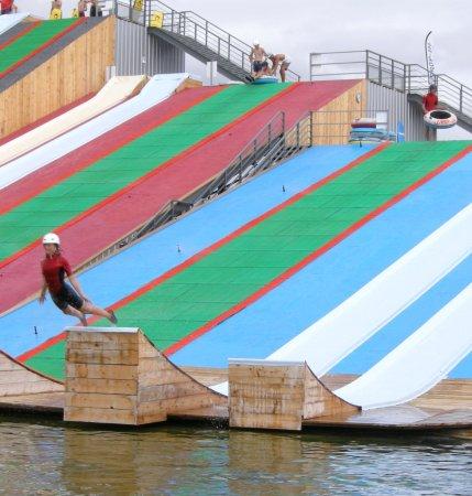 Gliss-Up Water Jump Parc: Tete en avant