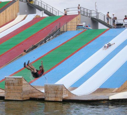 Gliss-Up Water Jump Parc: Sur le dos