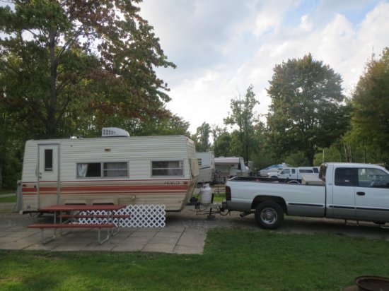 Presque Isle Passage RV Park & Cabin Rentals: Our site at Presque Isle Passage