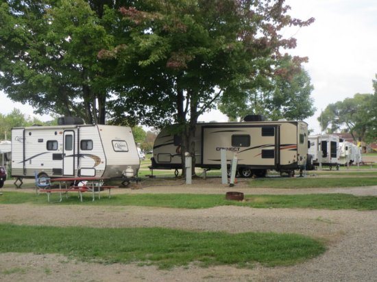 Fairview, Πενσυλβάνια: The campground at Presque Isle