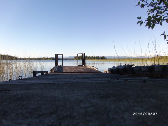 Nimpo Lake, Kanada: dock