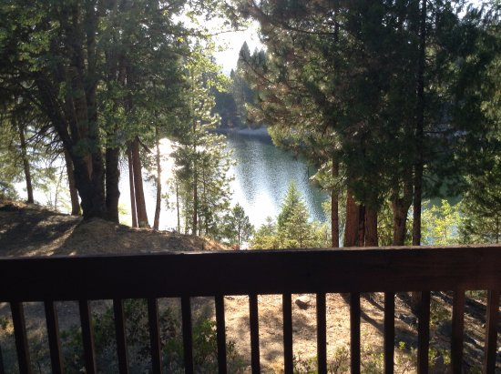 Mount Shasta Resort: View from the deck of the chalet
