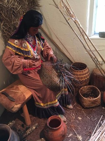 Hayesville, Carolina del Norte: Indian Weaving Exhibit in Old Jailhouse