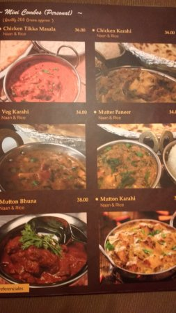 Men de combos picture of mantra indian cuisine lima - Mantra indian cuisine ...