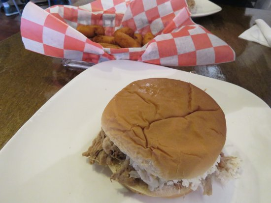 Sparta, NC: BBQ Sandwich and Hush Puppies