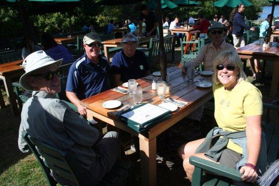 Seal Harbor, ME: Eating at Jordon's Pond restaurant.