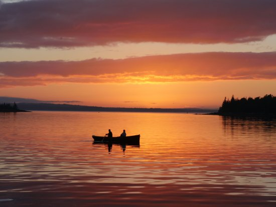 Rockland, ME: Rowing at Sunset