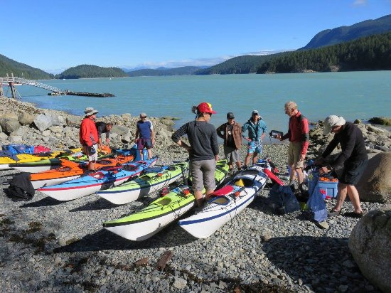 Powell River, Kanada: This was day 1 -- introducing each other and learning about our boats