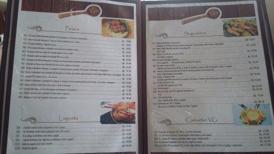 Cabana Colher De Pau: Menú 3